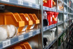 Small storage boxes orange