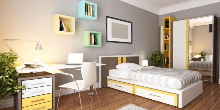 minimalist dorm room option