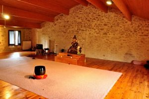 dedicated buddhist meditation space
