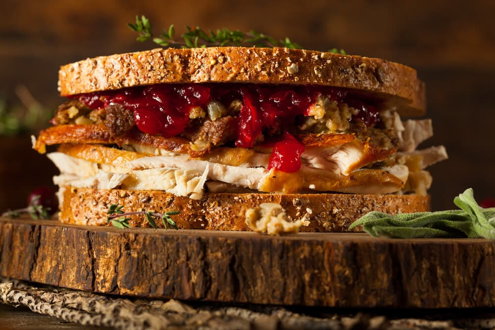 leftover thanksgiving turkey sandwich