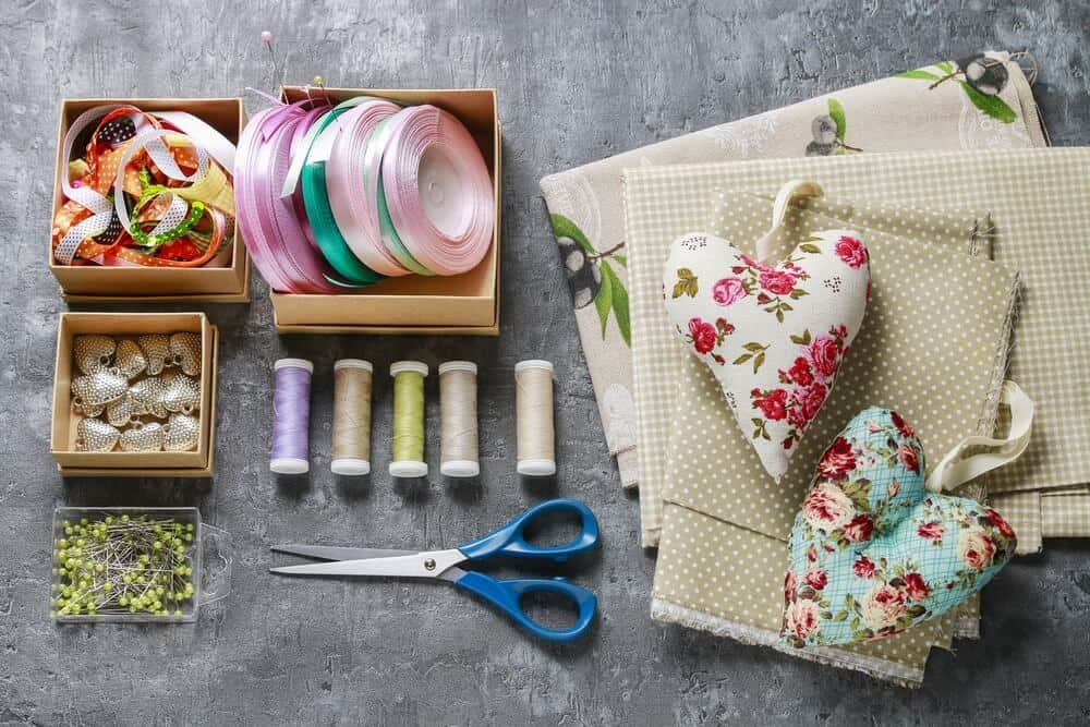 arts and crafts set on table