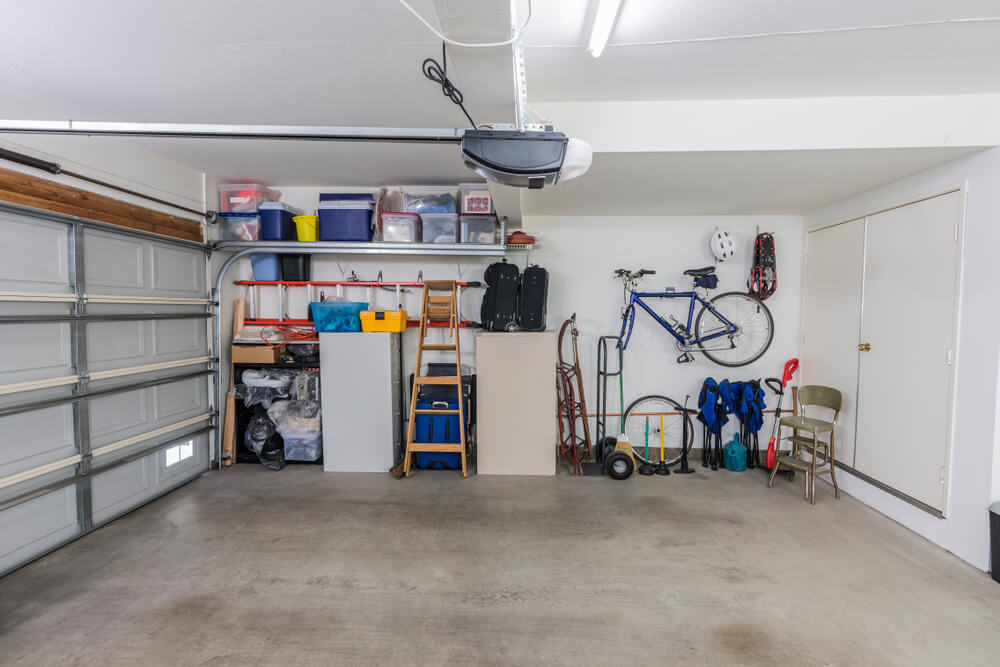 barren garage ready for cleaning