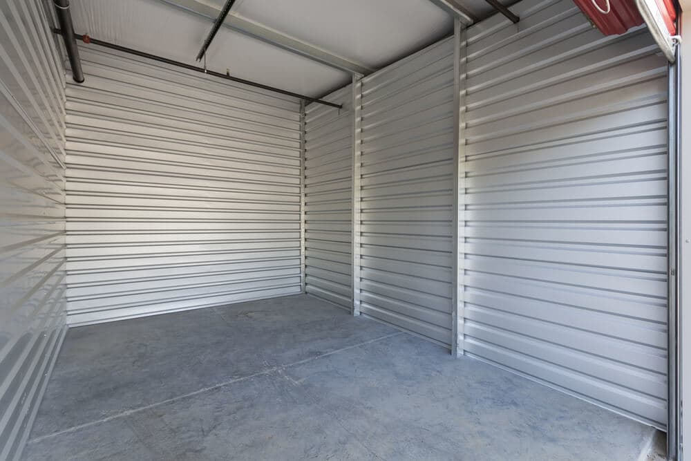empty exterior storage unit
