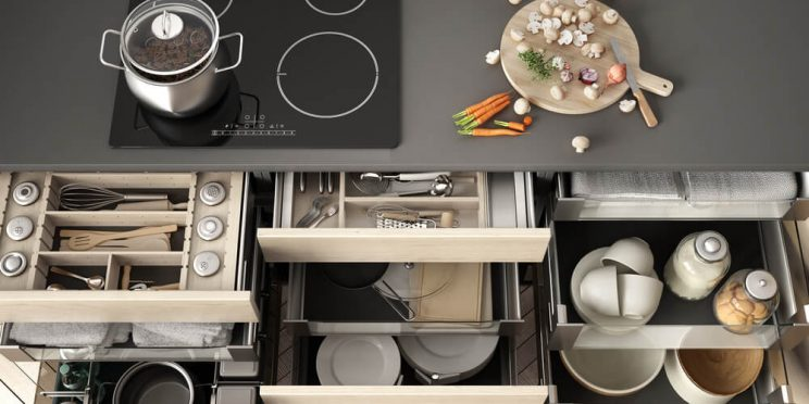ideal kitchen organizational system