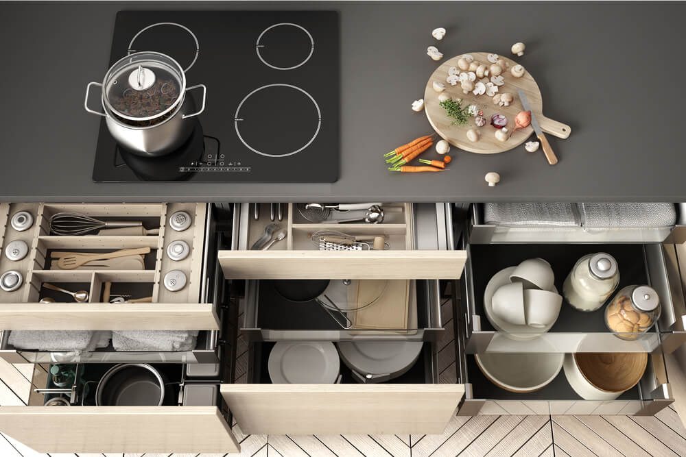 ideal kitchen organizational system