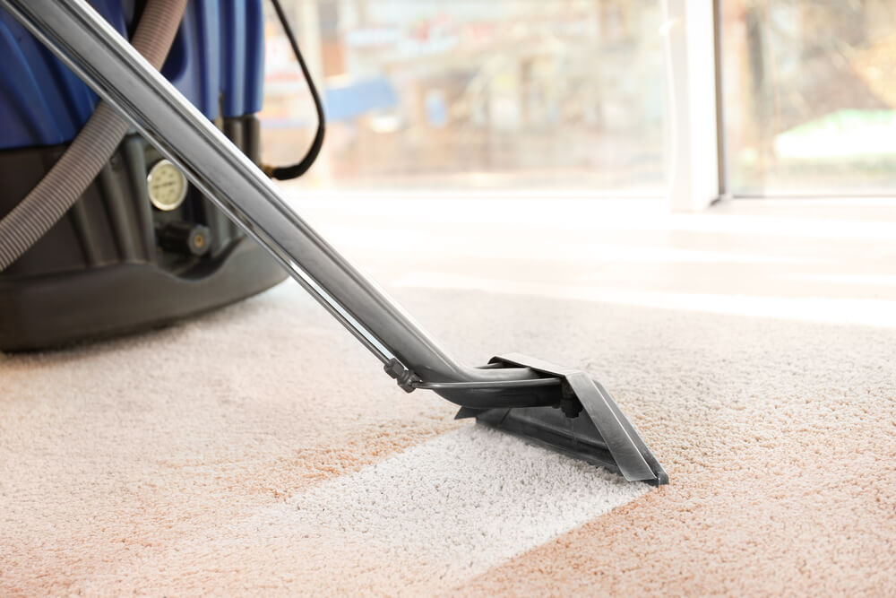steam cleaning dirty carpet