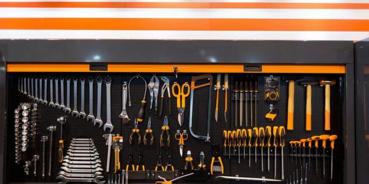 well maintained garage tool setup
