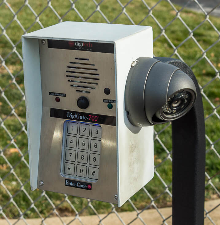 iStorage Ridge Road Security Gate Keypad