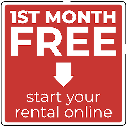 1st Month Free Start your rental online